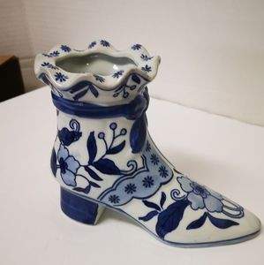 """Other - Porcelain Blue & White Boot  7"""""""